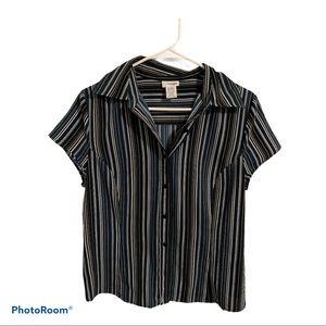 East 5th button down sleeve women's blouse